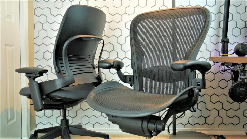 The TRUTH About The Herman Miller AERON Ergonomic Office Chair | Steelcase Leap V2 vs Aeron Review