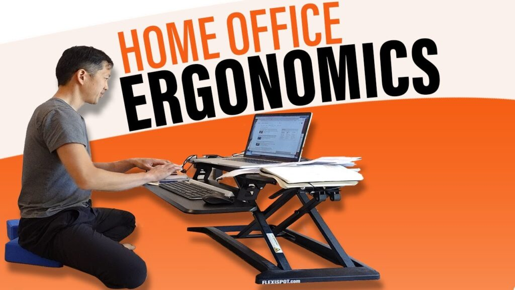 Work from home cheap and ergonomic workstation – Floor desk home office setup!